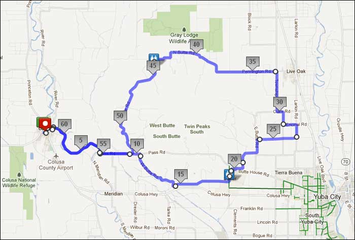 K Metric Century Bike Ride Colusa CA - Map my bike ride